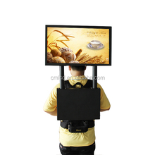22'' full hd Human LED display with gps navigation mobile walking ad