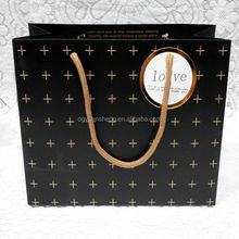 customized printed luxury promotional paper shopping bag with handle
