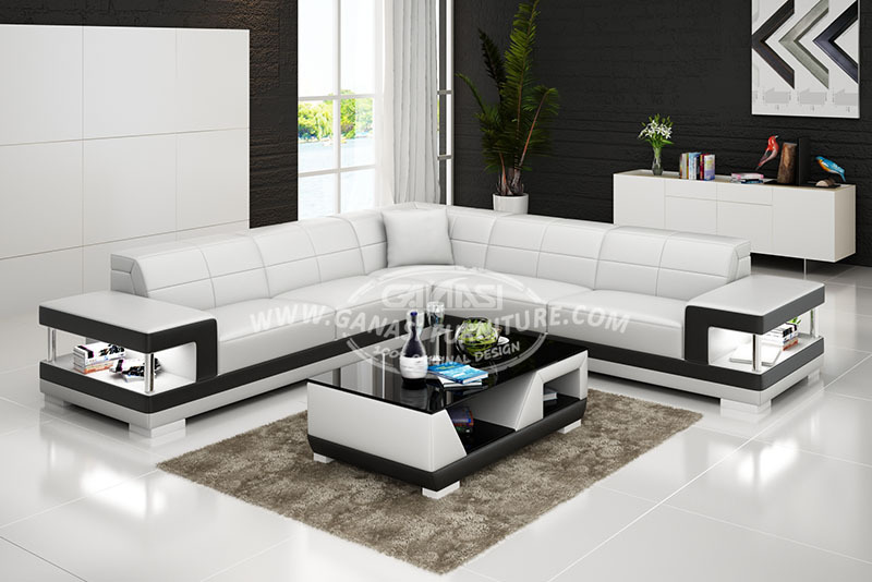 L shaped sofa latest design sofa set luxury sofa furniture for Latest sofa designs for living room