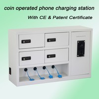 coin operated charging kiosk 4+4 coin operated charger solar battery charging regulator