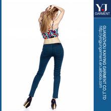 skinny jean de mezclilla pantalones vaqueros 2014 de color de moda los pantalones vaqueros para las mujeres