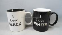 M0094 Custom black white coffee mug wholesale prices