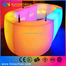 Interactive bar table system to make your table become led bar table, the night club furniture