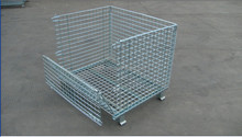 Galvanized or PVC coated steel wire mesh pallet container