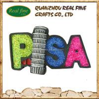 OEM/ODM wholesale PISA souvenir resin fridge magnet characters