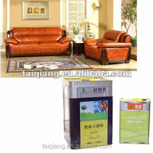 Thick leather sofa, chairs spray adhesive