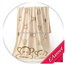 China factory wholesale plain dyed microfiber printed beach towel