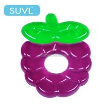 fantastic grape water ring teether bpa free funny baby fruit teether