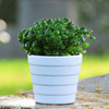 Outdoor round melamine large size plastic flower pot