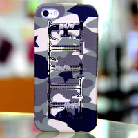 Navy Army Air Force camouflage fabric phone silicone case for iphone 5 5s back cover case