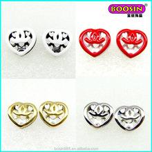 2015 fashion earring jewelry fancy heart shape fahsion stud earrings