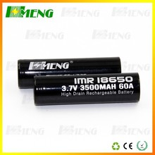 18650 Hmeng 3500mah Battery 1x18650 Lithium Rechargeable Battery