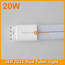 2G11 20W LED PL tube internal driver 85-265VAC LED light double tubes lamp