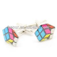 Colorful Rubik's cube Cufflinks 550015- cufflinks supplier,fancy cufflink