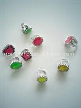Diamond Ring Toys Plastic Rings , Children Toy Ring Jewelry