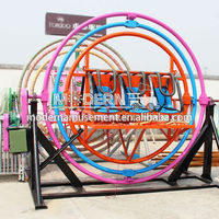 Alibaba exciting ride space ball mechanical spin human gyroscope