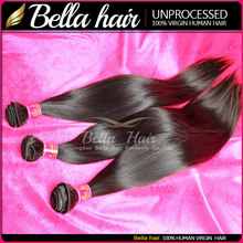 6a Soft Natural Color Raw Indian Temple Hair Weave Unprocessed Human Indian Hair Straight Hot Sale