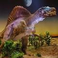 spinosaurus gigantes famosa móveis mecânica dinossauro