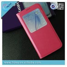 Newest Window Flip Case For Samsung S6 G9200 book style