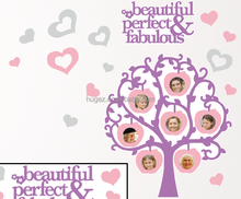 Beautifly lovely family photo fashion designs for Home Decor sticker