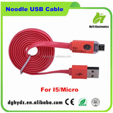 PVC 100cm charging noticed charger with led light usb micro cable
