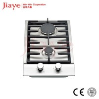 Two burners kitchen appliance gas hob, built in gas cooker stove JY-S2002