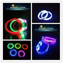 Superior Sparkling User-Friendly Exquisite Flashing Remote Controlled Led Bracelet