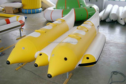 6 persons towables double tube water game banana boat