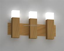 Led decoration lights 3pcs straight oak bar