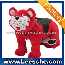 LSJQ-221 good quality coin operated amusement ride walking animal ride Red Cat