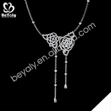 Wholesale for women pearl silver piano wire necklace