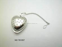 a forma di cuore ingrosso in acciaio inox infusore tè bomboniere