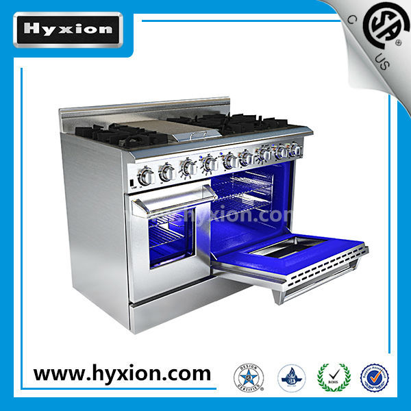 Luxury 6 burner gas range with griddle double oven buy for Luxury oven