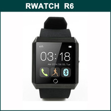 Rwatch R6 Black TFT Screen Bluetooth Android Smart Watch Phone