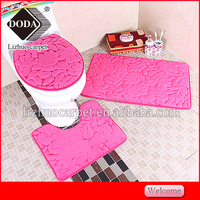 bathroom toilet 3 pieces bath mat sets non slip