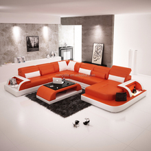 Leather sofa hot model in European country