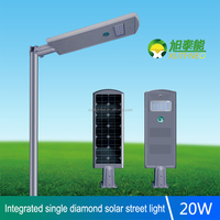 Integrated Solar LED 20W Street Light Three Years Warranty for Urban and Rural Road