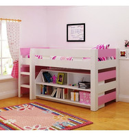 good quality kids bedroom furniture,child wooden bed with storage and bookshelf