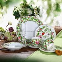 30 Pieces Luxury Super White Porcelain Dinnerware Set