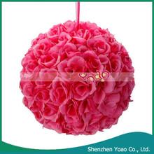 "9.84 "" la boda decorativa bola de la flor Artificial rosa oscuro"