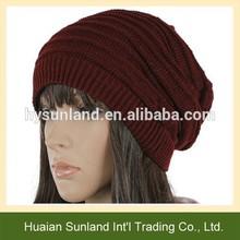 Personalizado w-713 gacho ganchillo beanie hat para las mujeres y una niña de la moda beanie