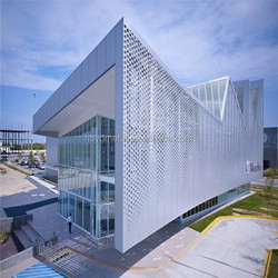 Decorative perforated metal sheet use building