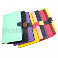 Mercury Goospery Fancy Diary Series Dual Color Style Magnetic Flip Stand TPU+PU Leather Case for iPad Air 2