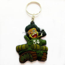 Made in Dongguan quality best selling reflective pvc keychain