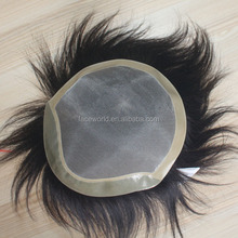 Factory wholesale human hair toupee top quality natural hair wig for men