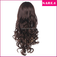 Wholesale Curly 3/4 Half Wig Wavy U Part Wig Natural 100% Kanekalon Synthetic Long Blonde Hair Wigs With No Bangs