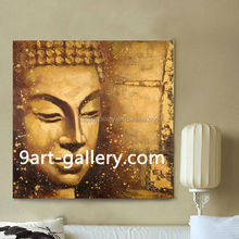 Wholesale Frame Acrylic Buddha Painting On Canvas For Wall Decor