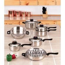 DIXIN-17pcs waterless cookware set