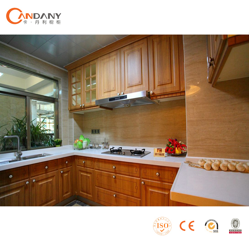 Professional wooden ready made modualr kitchen cabinets for Ready made kitchen cabinets
