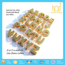 10mm Fashion Silver Or Gold Color Plain Zinc Alloy Letter Slider